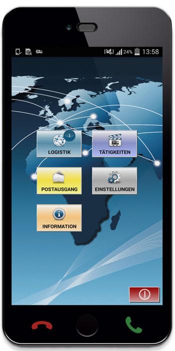 App basiert auf dem Betriebssystem Android