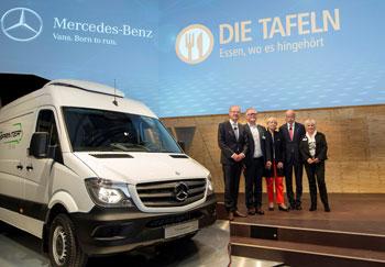 Mercedes-Benz Vans für die Deutsche Tafel e.V.