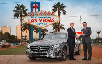 Autonom über die Highways im Bundesstaat Nevada. Mercedes fährt autonom in Las Vegas