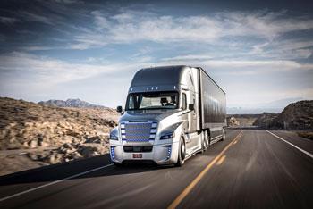 Der Freightliner Inspiration Truck macht immer eine gute Figur