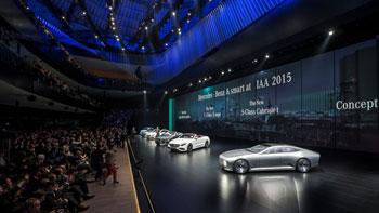 IAA 2015 in Frankfurt.  Mercedes-Benz fährt weiter auf Erfolgskurs