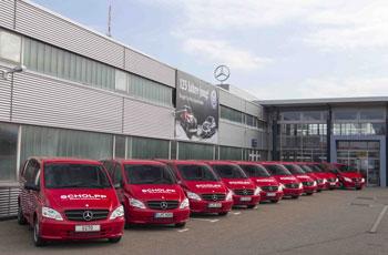 Der Foto von Mercedes macht die Berliner SCHOLPP-Gruppe richtig glücklich