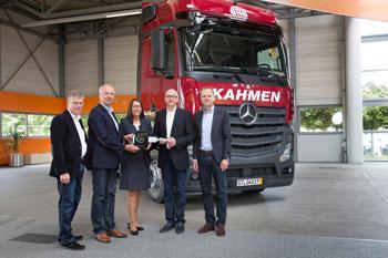 Mercedes-Benz Lkw arbeitet nun für  KAHMEN TransCargo