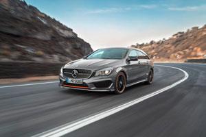 Der neue Mercedes CLA auf der PIste