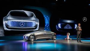 Weltpremiere des Mercedes-Benz F 015 Luxury in Motion auf der CES