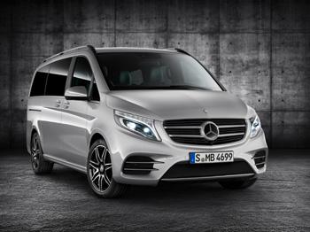 Die neue V-Klasse AMG Line bringt sportliches Design in das Segment der Großraumlimousinen