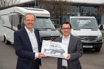 Reisemobilhersteller Hymer hat den Mercedes-Benz Sprinter gekauft.