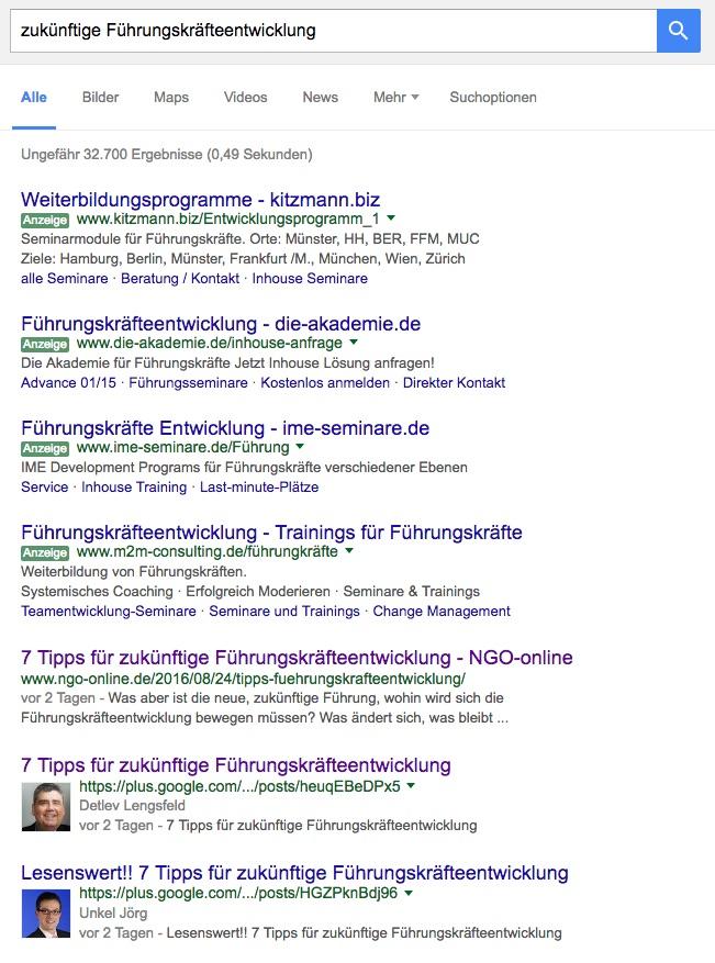 Personal Branding durch Positionierung in Google und in den sozialen Netzwerken