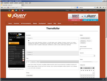 Der ThemeRoller von jQuery UI